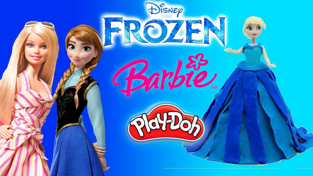 Лепим платья из пластилина для принцесс