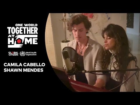 "Camila Cabello & Shawn Mendes perform ""What A Wonderful World  One World: Together At Home"