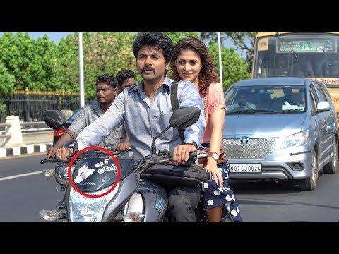 Whose Sticker In Bike? Velaikaran Movie...