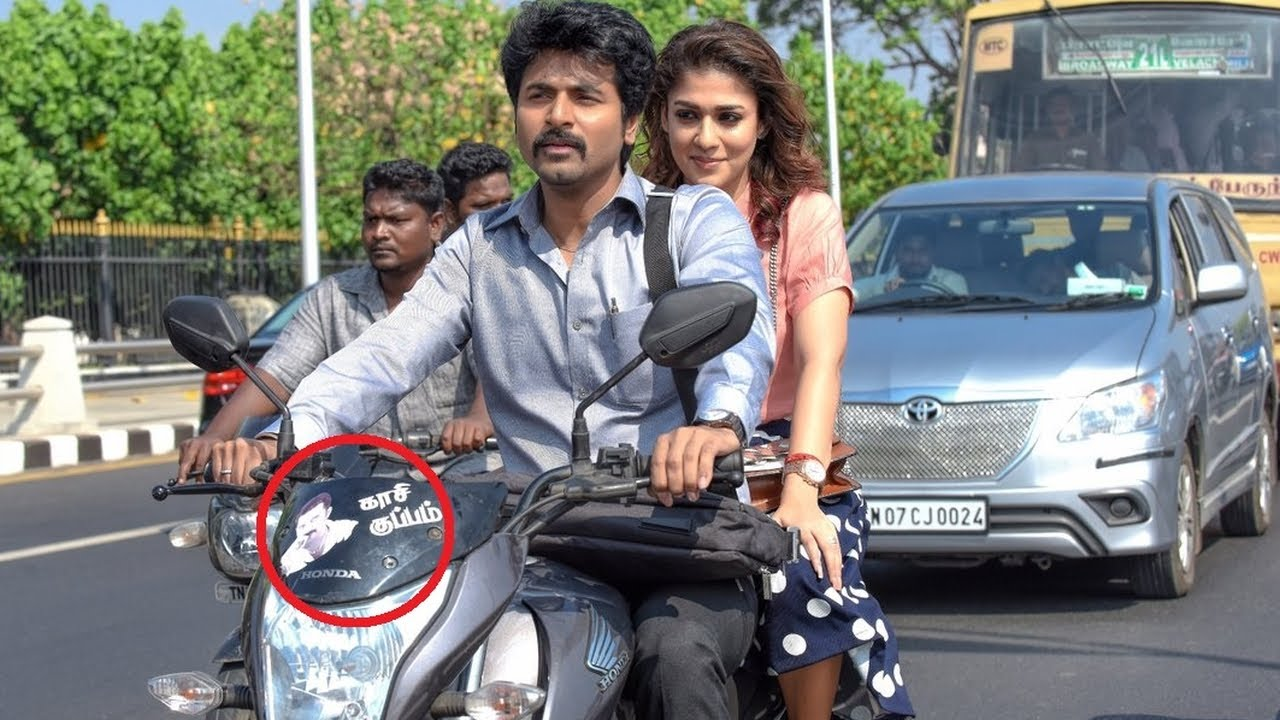Whose sticker in bike velaikaran movie latest update sivakarthikeyan nayanthara mohan raja