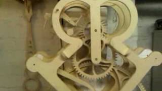 Grasshopper Escapement Wooden Gear Clock