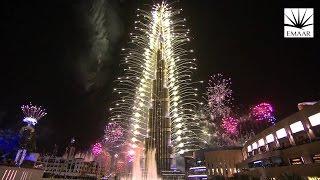 Burj khalifa Dubai New Year's Eve Fireworks 2017 (4K)
