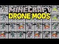 Minecraft DRONES MOD! | CONTROL & FLY DRONES WITH ABILITIES, & MORE! | Modded Mini-Game