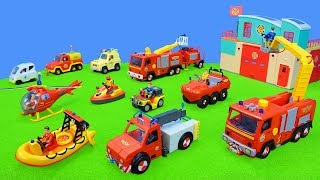 Fire Engine Fireman Sam: Toys Unboxing for Kids with all best Fire Trucks Playsets