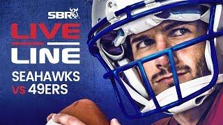 Seahawks vs 49ers | LIVE Monday Night Football NFL Betting on SBR
