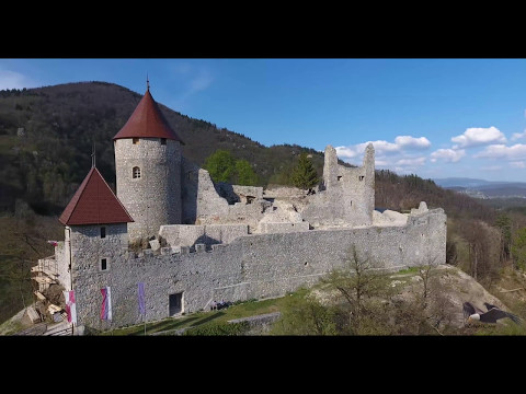 Castle on the hill, Castle Žovnek, Braslovče, Slovenia, Phantom 4 4k