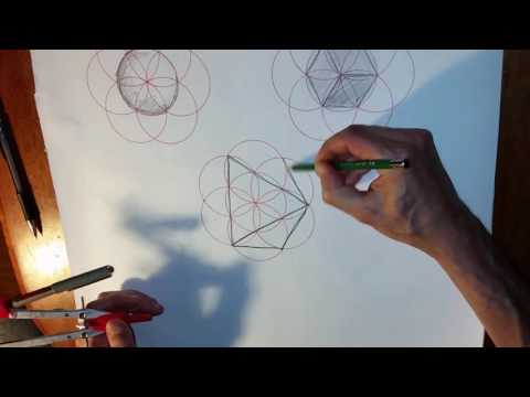 Seed of Life & some of the Platonic Solids in 2D & 3D