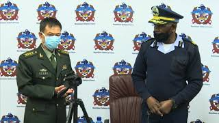 Defence Attaché through the Chinese Embassy  donates COVID-19 prevention equipment to NDF - NBC