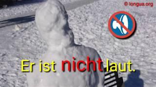 Deutsch lernen: nicht oder kein A1, A2, B1, B2 Grammatik Übung Bausteine