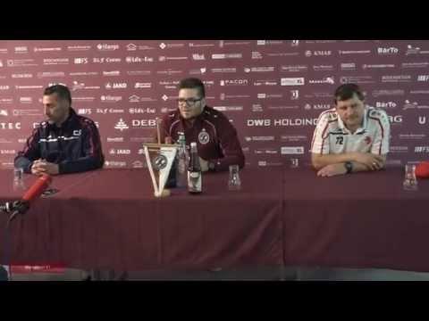 BFC Dynamo-BAK 07,14.Spieltag Pressekonferenz