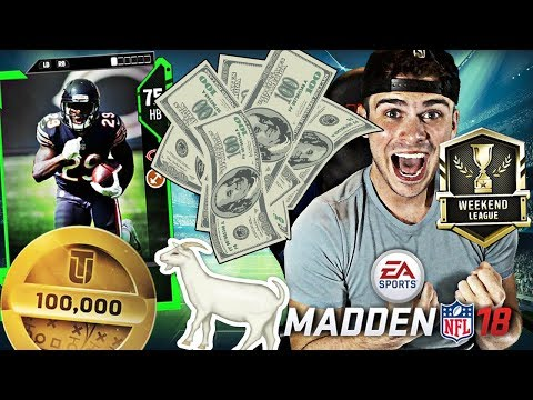 WEEKEND LEAGUE GOAT CARD! HIS PRICE WILL GO UP!   MADDEN 18 ULTIMATE TEAM