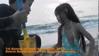 1st Syawal 1434AH (Aug 8, 2013) at PD Selesa Resort Beach video 5 of 5