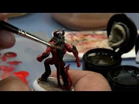 peinture acrylique de figurine / la grande serie de la figurine