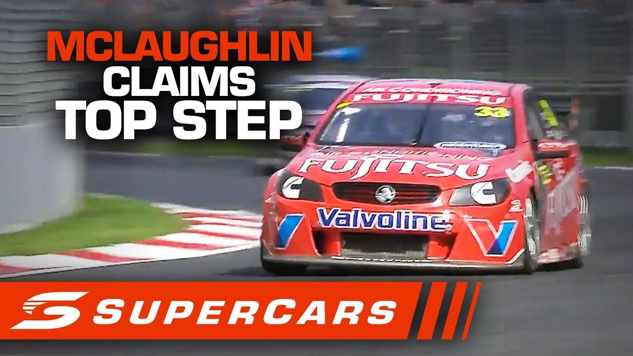 Flashback Scott Mclaughlin S First Win On Home Soil Supercars 2020 Youtube