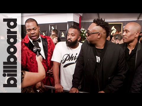A Tribe Called Quest & Busta Rhymes on The 2017 Grammys Red Carpet | Billboard