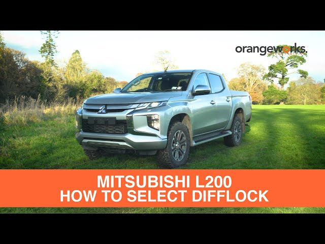 How to select Difflock in your Mitsubishi L200