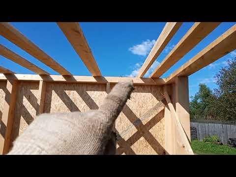 Деревянный гараж 6х4 своими руками