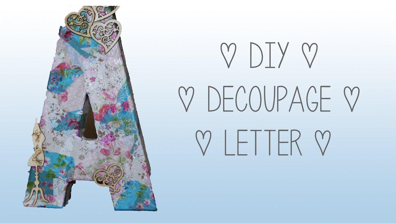 diy decoupage letter shabby chic ava drzazgowski