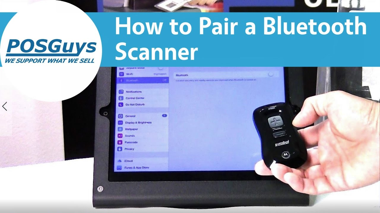 How to Pair Bluetooth Scanners to iOS, Android and Windows Devices -  POSGuys com