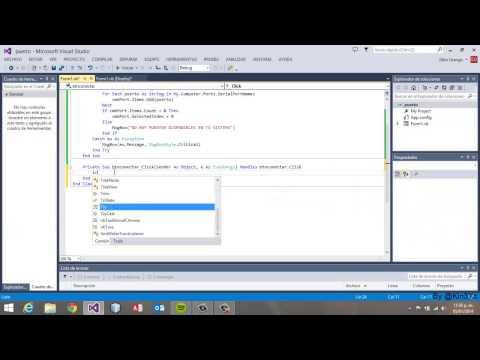 video 001 - Enviar y recibir datos por el puerto serial rs232 en VB-NET