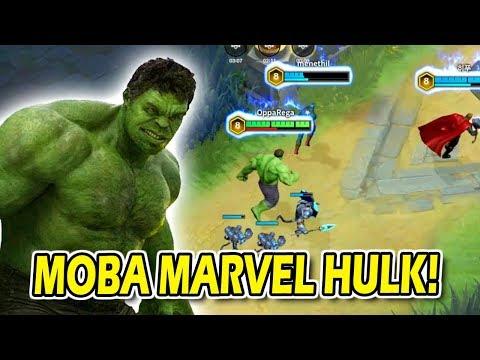 MOBA MARVEL HULK RASA JAWHEAD KEREN BANGET INI HERO GUYS!