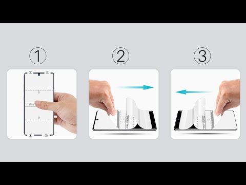 LK flexible film Screen Protector installation video for Note 10 / Note 10 Plus