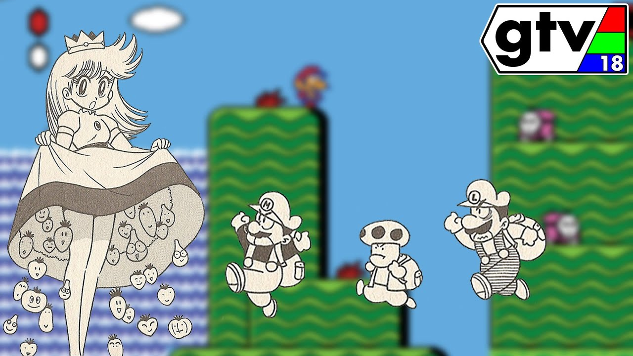 The Story Of Super Mario Bros 2 In Manga Form! - YouTube