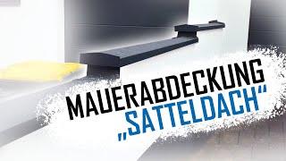 Dachdecker / Mauerabdeckung Satteldach aus PREFA Aluminium