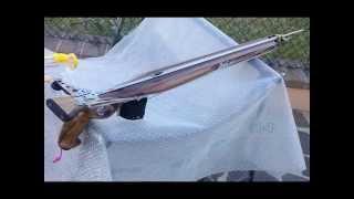 Repeat youtube video Presentazione monoroller Tirato 80   test and some fish with  Tirato 80  speargun rollergun
