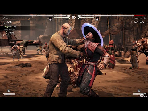 Mortal Kombat X Jason Splits All Characters Blood Bath Brutality