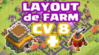 Clash Of Clans - Melhor Layout de Farm para CV8 com Air Sweeper (Town Hall 8 Farming Base)