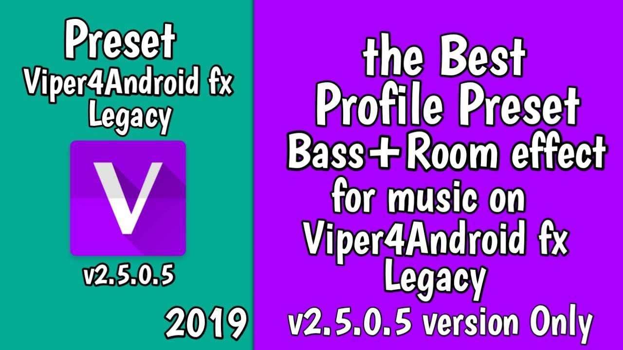 Preset Bass Room effect for Viper4Android v2 5 0 5