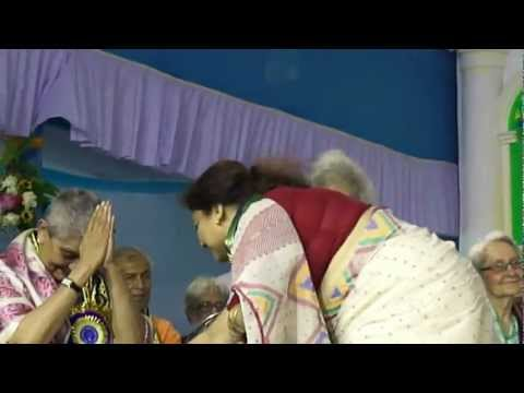Dr. Manasi Majumder being awarded Ph.D in the presence of Pt. Shiv Kumar Sharma
