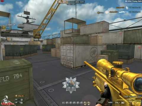 CF luyện lại kĩ năng sniper vs bot Trung bình