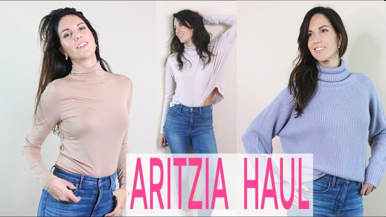 aritzia haul 2019 winter sale try on youtube. Black Bedroom Furniture Sets. Home Design Ideas