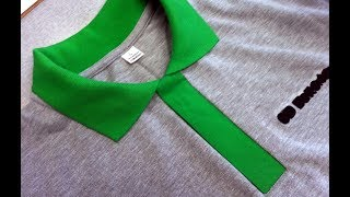 How to sew a polo shirt lacosta DIY Sewing course. Kurs szycia plisa polo koszulka z dzianiny