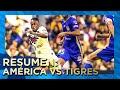 Club América 1-2 Tigres   Resumen - Todos Los Goles   4tos Ida   Apertura 2019