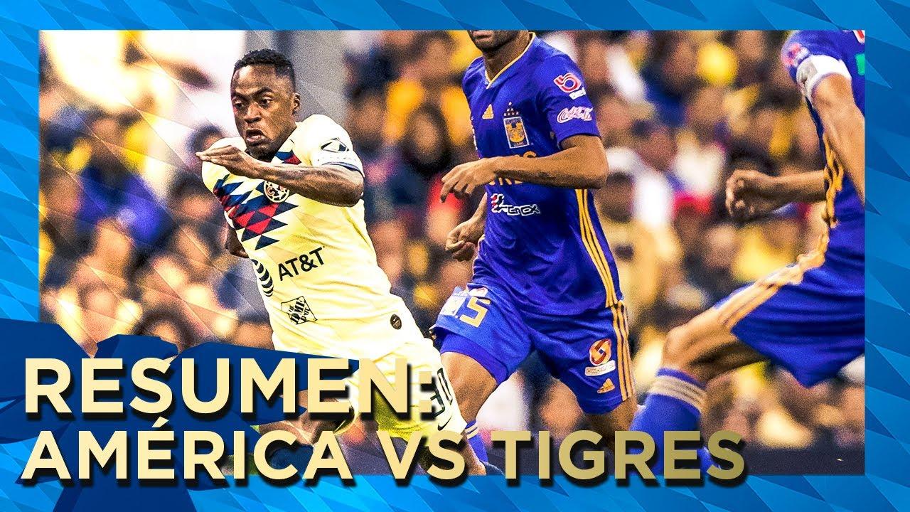 Club América 1 2 Tigres Resumen Todos Los Goles 4tos