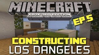 Minecraft Xbox 360: Constructing  Los Dangeles! Episode 5! (City District!)