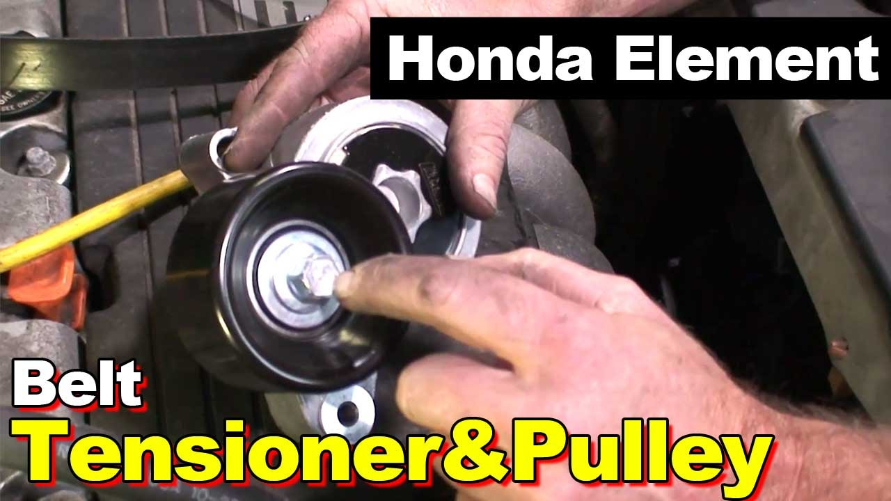 hight resolution of 2006 honda element tensioner pulley and serpentine belt