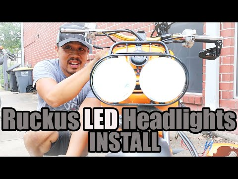 Installing LED Headlights on a Honda Ruckus #Ruckus #Rucklife