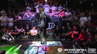 Popping Side Judge demo BOOGIE TIE (T-PEC) | 20150523 HIGH SCHOOL HIGH VOL.6