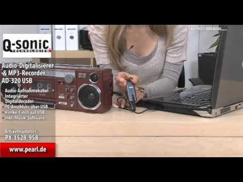 Q-Sonic Audio-Digitalisierer & MP3-Recorder AD-320USB