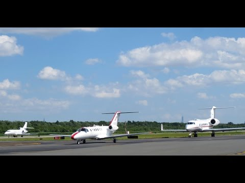 Busy day at Teterboro Airport