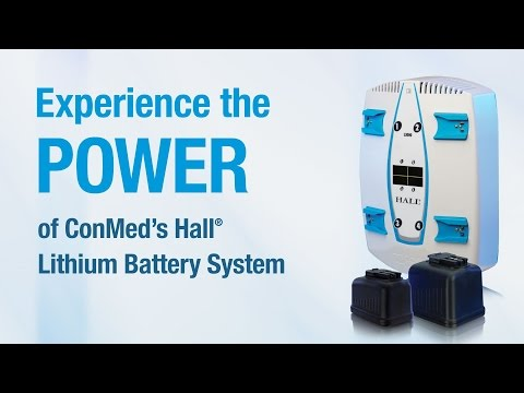 Hall® Lithium Batteries - CONMED Product Video