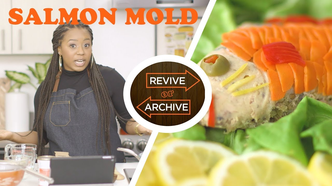 Canned Salmon & Gelatin?! Molded Salmon from the 1920s | Revive or Archive - YouTube