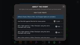 TIME PARADOX CHAMPION USE SOLO EVENT! SHE HULK FOR 15K BONUS POINTS! ONLY 2 ENERGY QUESTING OR DUEL!
