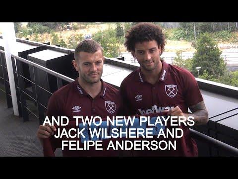 West Ham Unveil Manuel Pellegrini, Jack Wilshere & Felipe Anderson
