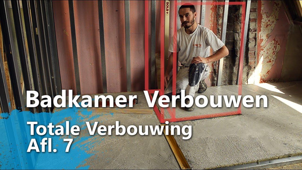 Badkamer Vloer Storten : Badkamer verbouwen betonvloer storten wanden zetten totale