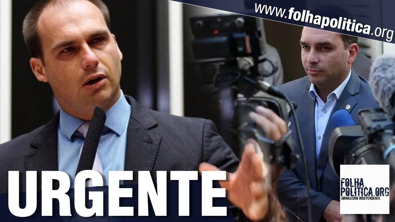 URGENTE: Eduardo Bolsonaro desmascara matéria difamatória contra Flávio e família Bolsonaro